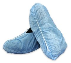 Shoe Cover McKesson X-Large One Size Fits Most Shoe-High Non-Skid Blue Nonsterile