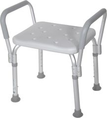 Shower Bench with Removable Padded Arms