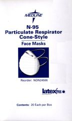 N-95 Adjustable Particulate Respirator Cone-Style Mask