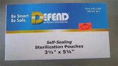"Defend Self- Sealing Sterilization Pouches 3.5"" x 5.25"""