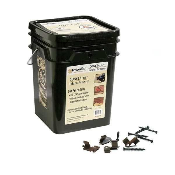 TimberTech CONCEALoc 900-Count Brown Gun Pail(500-sq ft Coverage)