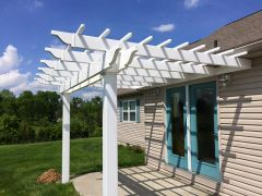 White Classic Attached Vinyl Pergola Kit starting at