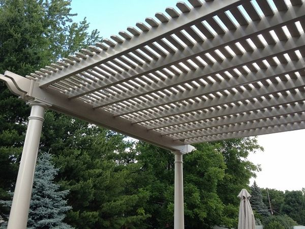 Almond Classic Attached Vinyl Pergola Kit starting at