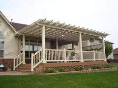 Almond Classic Free Standing Vinyl Pergola Kit starting at