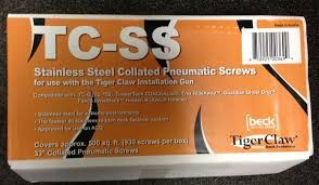 TigerClaw TC-SS Stainless Steel Pneumatic Screws QTY 920- 500 square feet