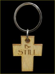 BE STILL BIRCH KEY RING