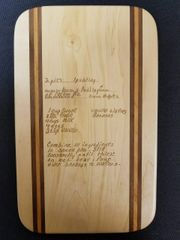 Cutting Board With Your Hand Written Recipe