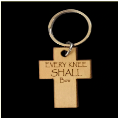 EVERY KNEE SHALL BOW BIRCH KEY RING