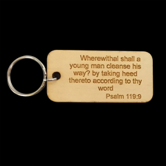 PSALM 119:9 KEY RING