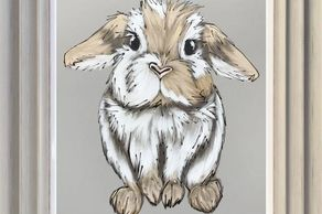 Original painting of a rabbit by Amy Louise