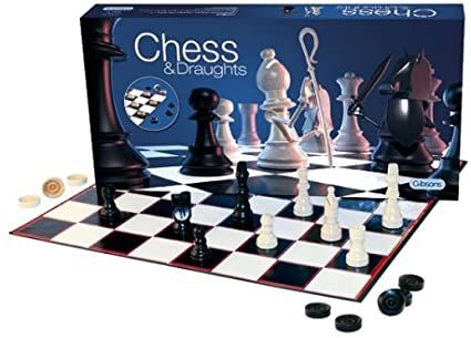 GIBSONS ........CHESS & DRAUGHTS SET