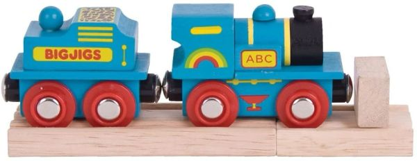 BIGJIGS WOODEN TRAINS ...ROLLING STOCK..BLUE