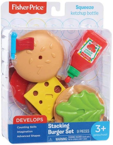 FISHER PRICE.............. STACKING BURGER SET