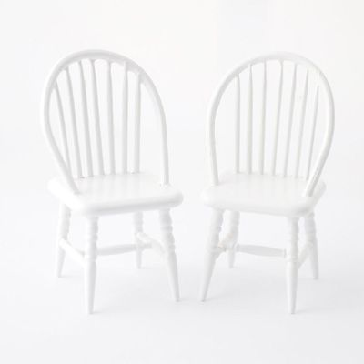 DF1440 White Spindleback Chairs by Streets Ahead