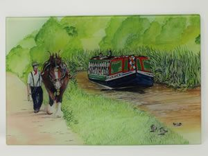 A HORSE DRAWN BARGE by Sue Podbery