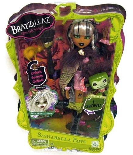 Bratzillaz Sashabella Paws Doll With Pet