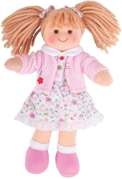 """Bigjigs Toys POPPY Doll 28cm (11"""") - Rag doll Cuddly Toy"""