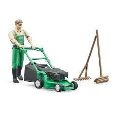 Bruder Gardener, Mower ,Brush,and rake