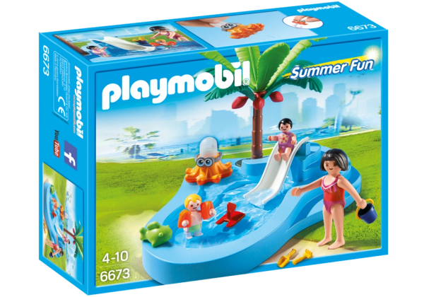 Baby Pool with Slide Product by Playmobil