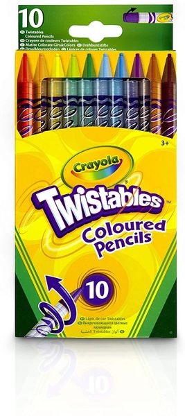 CRAYOLA....TWISTABLES 10 Coloured Pencils