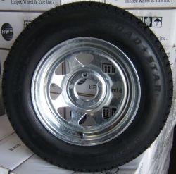 "14"" Galvanized Wheel and Tire"