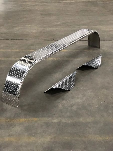 Triple Axle Aluminum Trailer Fender with Tear Drops