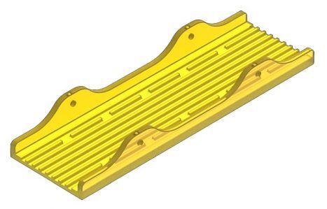"Keel Pad 3"" Yellow"