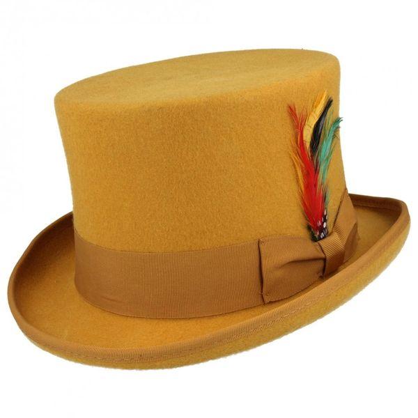 Hoge hoed van zachte wolvilt 6 kleuren