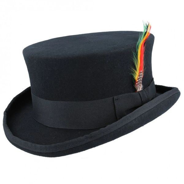 Dead Man Top Hat met veer