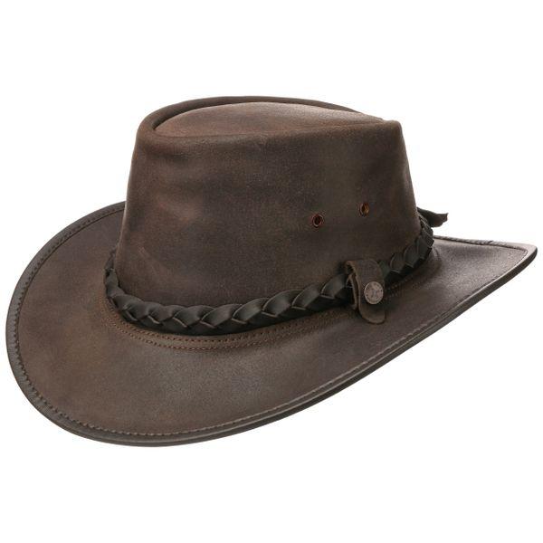 Handgemaakte Leren Cowboy Hoed Bac Pac - 2 kleuren