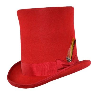 Victorian Top Hat Stovepipe rood
