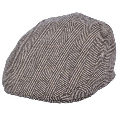 Old English Flat Cap camel visgraat