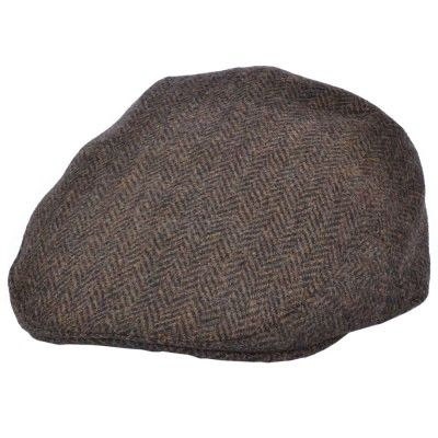 Dark brown old English flat cap
