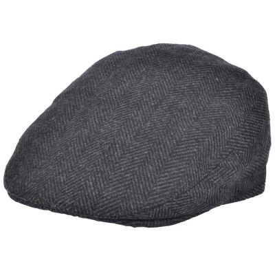 Old English grey fishbone flat cap visgraat