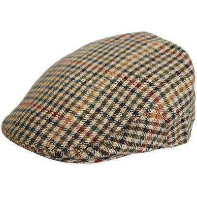 Olive and beige flat cap pet