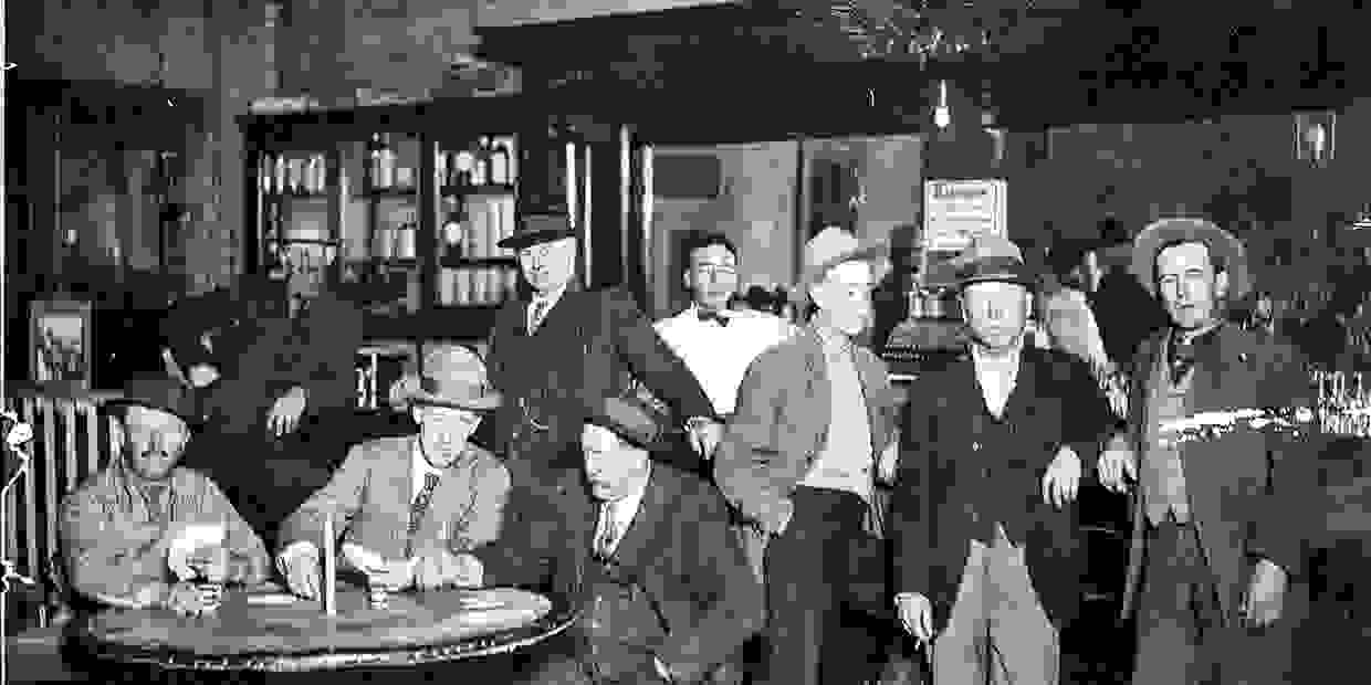 BUCKET OF BLOOD SALOON (circa 1905) on the site of the current DILLON'S GRILL.