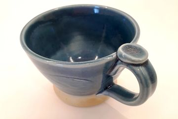 Finely crafted ceramics; mugs, vases, platters and bowls at Rails End Gallery Shop