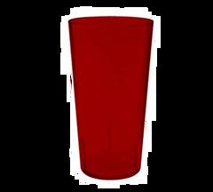 16 Oz Plastic Tumblers (Red)