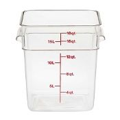 18 qt. Square Food Storage Container