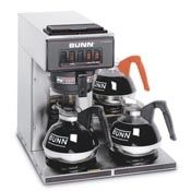 Coffee Brewer with 3 Lower Warmers