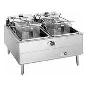 Double Countertop Electric Fryer