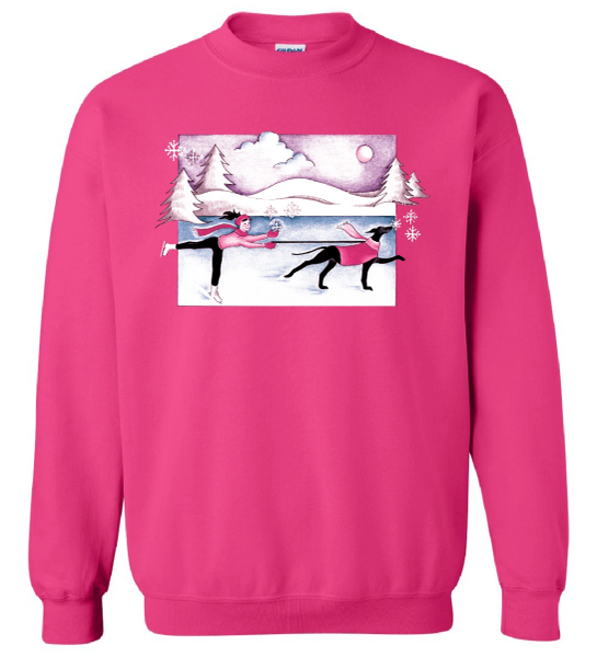 When Dogs and Snowflakes Fly: Long-Sleeved Shirt