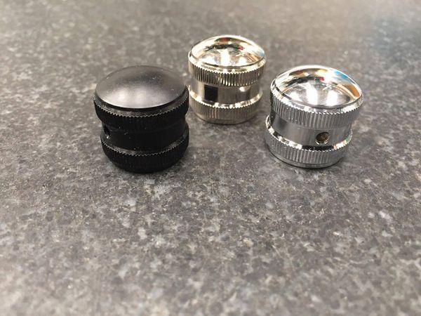Grainger Potentiometer Knob, Knurled - 6mm Shaft