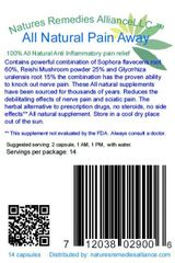 Pain Away powerful all natural anti-inflammatory.
