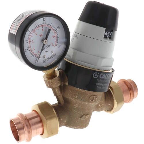 "3/4"" Press Pressure Reducing Valve w/ Gauge"