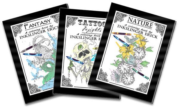 3 Book Combo Inkslinger Erick coloring books