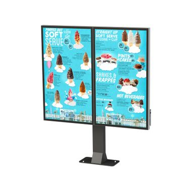 Outdoor digital screen double screen mount