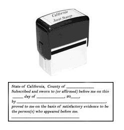 California Jurat Stamp