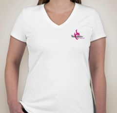 VertPicks Womens White TShirt Double Sided