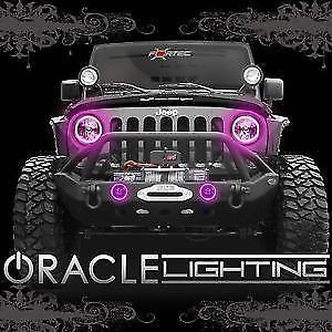 Halo Lights For Jeep Wrangler >> Oracle 2665 009 2007 2015 Jeep Wrangler Jk Pink Headlight Halo Light Kit